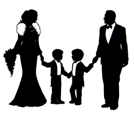 Silhouette Family White