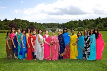 Mellerstain wedding, Scottish Borders - beautiful saris at Asian wedding