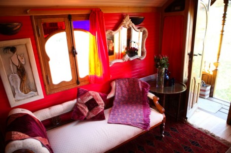 Scottish Borders wedding accommodation - Roulotte Retreat Romany caravan interior