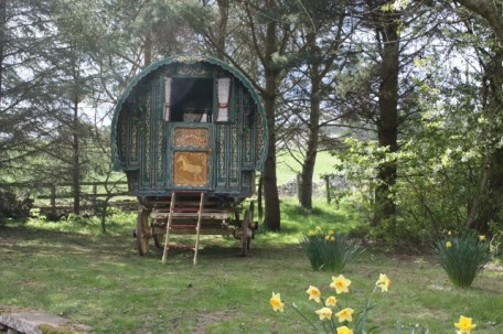 Scottish Borders wedding accommodation - Roulotte Retreat - romantic gypsy caravan