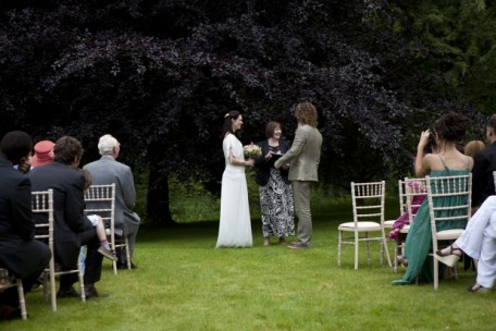 Wedding by the copper beech, Hoscote