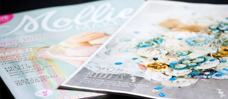 Duck Egg Blue Brooch Bouquet features in Miollie Makes Magazine