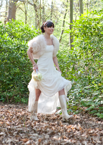 The Catherine Boot from Weddington Boots - a wedding welly with a heel