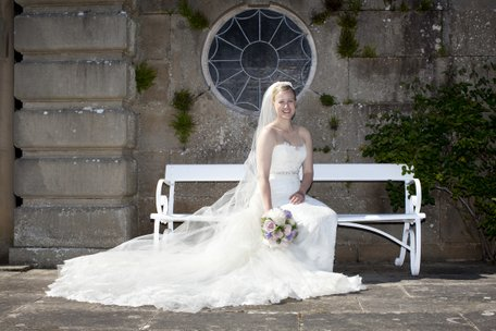 Beautiful bride at Mellerstain