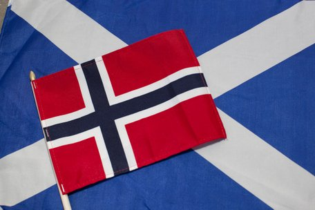 Norwegian and Scottish flags