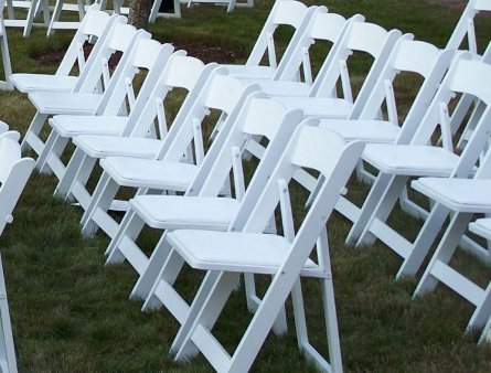 Pretty White Folding Chairs For Hire From Get Knotted
