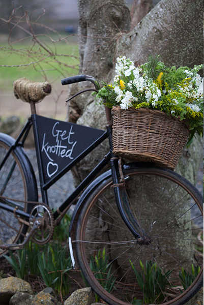 Vintage Bike From Get Knotted Wedding Hire Collection